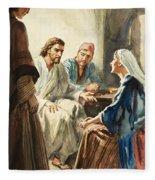 Christ Talking Fleece Blanket