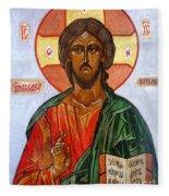Christ The Pantocrator I Fleece Blanket