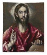 Christ The Saviour Fleece Blanket