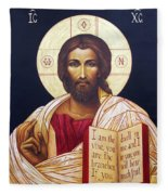 Christ The Teacher Fleece Blanket