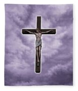 Christ Variations # 2 Fleece Blanket
