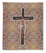 Christ Variations #1 Fleece Blanket