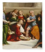 Christ Washing The Disciples' Feet Fleece Blanket