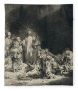 Christ With The Sick Around Him, Receiving Little Children Fleece Blanket
