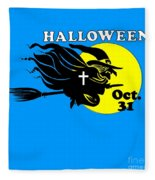 Christian Halloween Witch Fleece Blanket