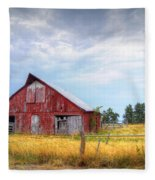 Christian School Road Barn Fleece Blanket