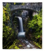 Christine Falls - Mount Rainer National Park Fleece Blanket