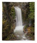 Christine Falls Mt Rainier Washington Fleece Blanket