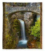 Christine Falls Through The Trees Fleece Blanket
