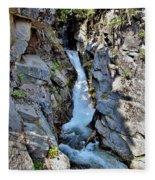 Christine Falls - Upper Part - Mount Rainier National Park 3 Fleece Blanket