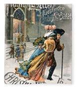 Christmas, 1890 Fleece Blanket