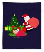 Christmas #2 No Text Fleece Blanket