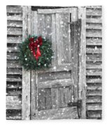 Christmas At The Farm Fleece Blanket