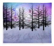 Christmas Bare Trees Fleece Blanket