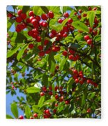 Christmas Berries Fleece Blanket