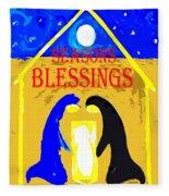 Christmas Blessings 5 Fleece Blanket