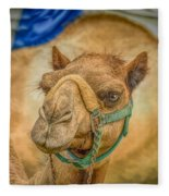 Christmas Camel On Call Fleece Blanket