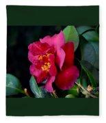 Christmas Camellia Fleece Blanket