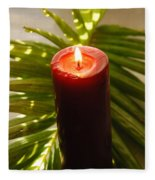 Christmas Candle 2 Fleece Blanket