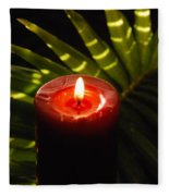 Christmas Candle Fleece Blanket