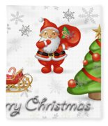Christmas Card 12 Fleece Blanket