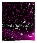 Christmas Card 2 Fleece Blanket