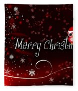 Christmas Card 3 Fleece Blanket