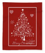 Christmas Card 5 Fleece Blanket