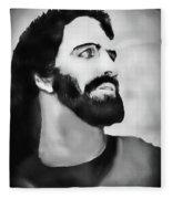 Christmas Card - Jesus Fleece Blanket