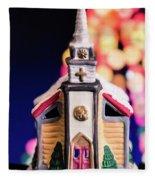 Christmas Chapel 2 Fleece Blanket