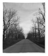 Christmas Day Country Road Fleece Blanket