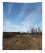 Christmas Day In The Country Fleece Blanket