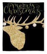 Christmas Deer Fleece Blanket