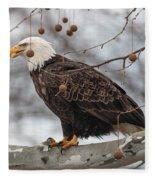 Christmas Eagle Fleece Blanket