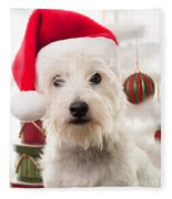 Christmas Elf Dog Fleece Blanket