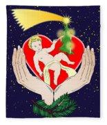 Christmas Eve- Nativity Fleece Blanket