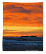 Christmas Eve Panrama 2 Fleece Blanket