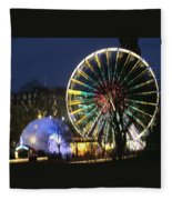 Christmas Fair Scotland Fleece Blanket