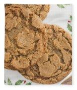 Christmas Gingerbread Cookies Fleece Blanket