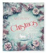 Christmas Greeting Card, By Imagineisle Fleece Blanket