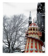 Christmas Helter Skelter Scotland Fleece Blanket