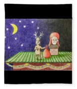 Christmas Illustration Fleece Blanket