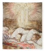 Christmas Illustrations From The Night Before Christmas Fleece Blanket