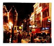 Christmas In Amsterdam Fleece Blanket