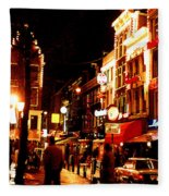 Christmas In Amsterdam Fleece Blanket
