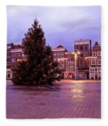 Christmas In Amsterdam The Netherlands Fleece Blanket
