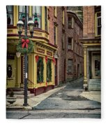 Christmas In Jim Thorpe Fleece Blanket