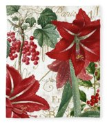 Christmas In Paris II Fleece Blanket