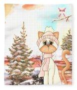 Christmas In The Forest Fleece Blanket