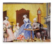 Christmas In The Royal Household Of Empress Maria Theresa Of Austria With Family Fleece Blanket